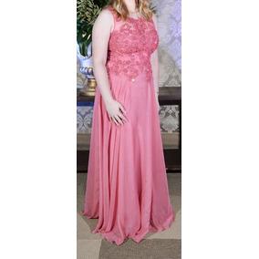 39d18b5fb Vestido Pedra Pedraria Chique - Vestidos Longos Femininas Rosa claro ...