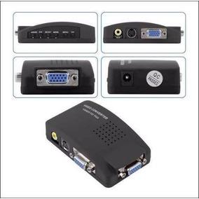Adaptador Conversor Transcoder Rca S-video P/ Monitor Vga Pr