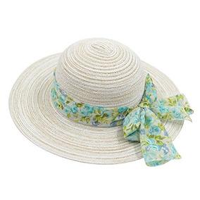 Sombrero De Paja De Papel De Ala Ancha Para Mujer Con Sombre f60536b0135
