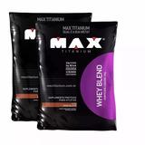2x Whey Protein Blend Refil - Max Titanium - 2kg+ Bcaa 60cap