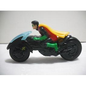 Boneco Robin Com Moto 11,5 Cm Usado Bom Estado