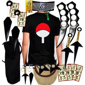 Kit Ninja Naruto Kunai Camisa Naruto Uchiha Sasuke Itachik69