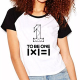 Camiseta Wanna One To Be 1 Raglan Babylook