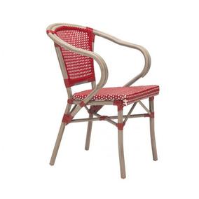 Silla Para Jardin Modelo Paris Con Brazos - Rojo Këssa Muebl