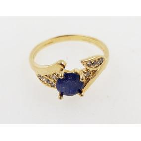 0f387a13d6e Anel De Prata Com Pedra Azul Lindíssimo - Joias e Relógios no ...