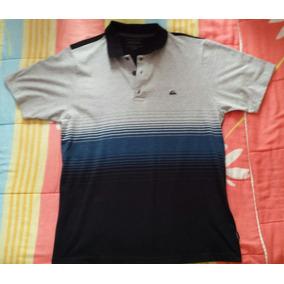 Camisa Polo Quiksilver Original Tamanho M Cinza 89b8c51e7e660