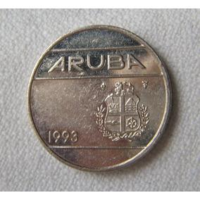 Moneda De Aruba 1993 25 Veinticinco Centavos Florín