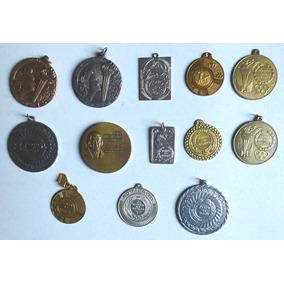 Lote Com 13 Medalhas Esportivas E Medalhas Comemorativas