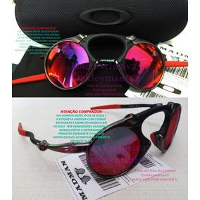 31b4bb6a512ff Oculos Madman Grafite Black Lente Dark Ruby + Case Usa