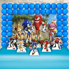 Festa Aniversário Sonic Decoração Cenários Kit Ouro