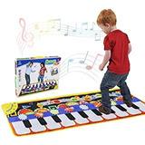 Alfombrilla De Piano Musical Con Teclado De Piano, Portátil,