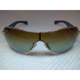 Óculos De Sol Feminino Ray Ban Rb 3471 001 5d Azul Seminovo. c26b7dffca