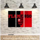 Quadro Flamengo Times Decorativo 95x65cm Telas Canvas