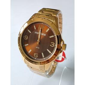 Relógio Dourado Masculino Mondaine Original 83420gpmvde3.