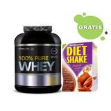 100% Pure Whey 2kg Vários Sabores Probiótica + Brinde