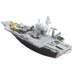 Barco Para Llevar Aviones,tanques De Guerra Juego Juguete