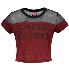 Cropped Flamengo - Cropped Manga Curta para Feminino no Mercado ... 504c9966b67a0