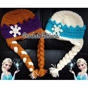 Gorro Elsa Y Ana Frozen Crochet