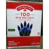 Luces Navideñas Holiday Time Azul
