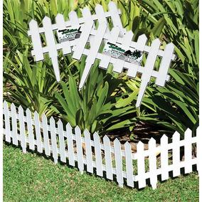 6 Cercas De Jardim Decorativa De Plastico Branco 40,5x19cm
