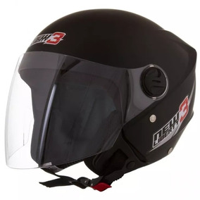 Capacete Protork New Liberty Three Preto Fosco 56