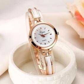 Reloj Dorado Para Mujer Ajustable Brazalete