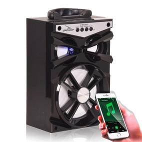 Caixa Caixinha Mp3 Som Amplificada Via Bluetooth Pendrive Fm