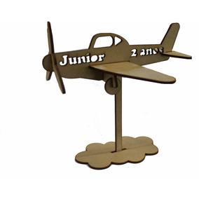 Kit Lembrancinha 30 Avião Personalizado Menino Aniversário