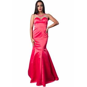 Vestidos de noche coral 2016