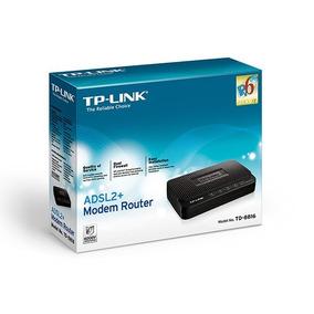 Modem Router + Adsl2 Tp-link Td-8816 Banda Ancha Nuevo