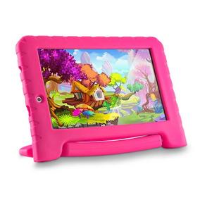Tablet Infantil Criança Rosa Kids Quad Wifi 7