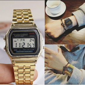 Relógio Vintage Retrô Dourado/prata
