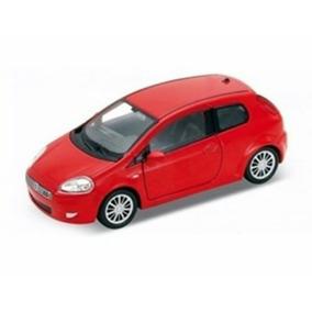 Carrinho De Metal Para Coleção Fiat Punto Vermelho