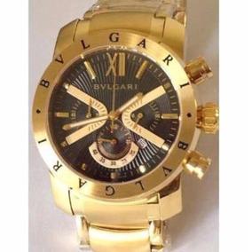 Relogio Bvlgari Iron Man Dourado - Relógio Bvlgari Masculino no ... f00fddaa7d