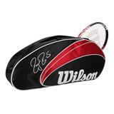 Raqueteira Wilson Federer 3 Pack - Para 3 Raquetes