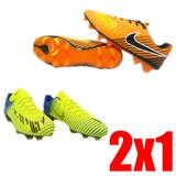 Guayos Niño Grama Corto Nike Mercurial Fútbol 28 2x1 + Envió 555193f10e5a4