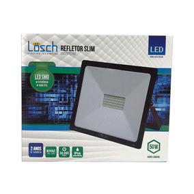 Refletor De Led Smd Slim 50w 3000k Bivolt - Losch - 40764