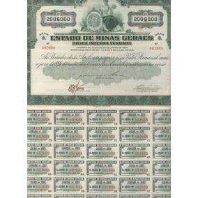 1966 - Apólice Divida Interna Fundada Estado Minas Gerais