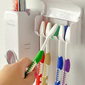 Porta Escovas De Dente E Dispenser Creme Dental Automático