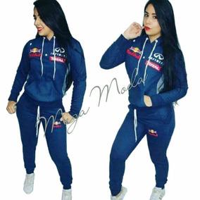 Conjunto Moletom Feminino Moleton Red Bull Infiniti Promoção 73a55c86eb3