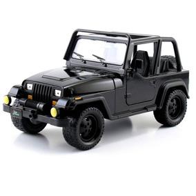 Miniatura Carro Jeep Wrangler 1992 Preto 1:24 Jada Toys