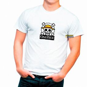 Playera One Piece Calaveras Luffy Sombrero De Paja Logo 1 2e9b65e0521