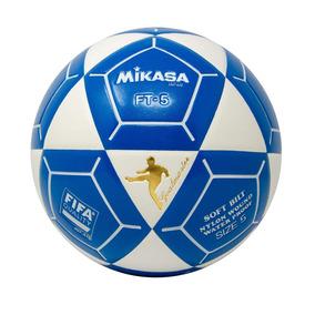 566e76e62ee4c Mikasa Ft5 Goal Master Balón De Fútbol Blanco Azul Tamaño 5