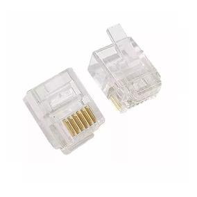 Conectores Rj12 Para Cable Comunicación De Impresora. El Par