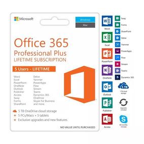 Pacote Office 365 2019 Original 5pcs E Mac + 5tb One Drive!