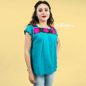 Blusa Mexicana Bordada A Mano