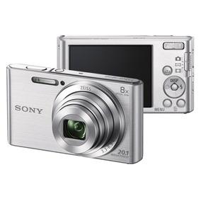 Câmera Digital Cyber-shot Dsc-w830 Prata - Sony Case Brinde