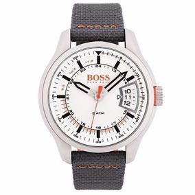 Relógio Hugo Boss Masculino Nylon Cinza