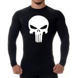 Camiseta Térmica Uv Rash Guard Justiceiro (the Punisher)