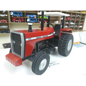 Miniatura Trator Massey Ferguson 275 De Madeira Artesanal
